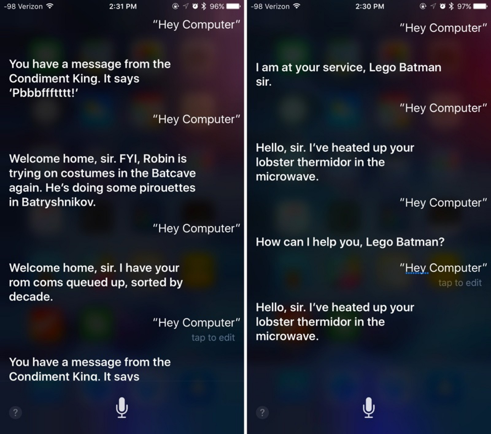 My Latest Article On Things: Apple's Siri Promotes The LEGO Batman Movie When You Say