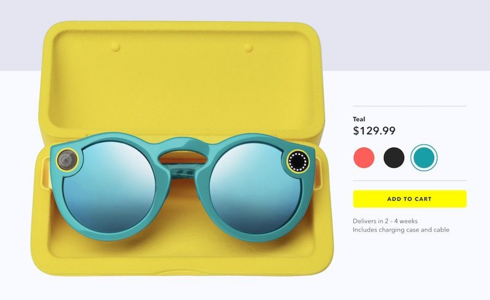 Snapchat Spectacles Now Available to Purchase Online for $130
