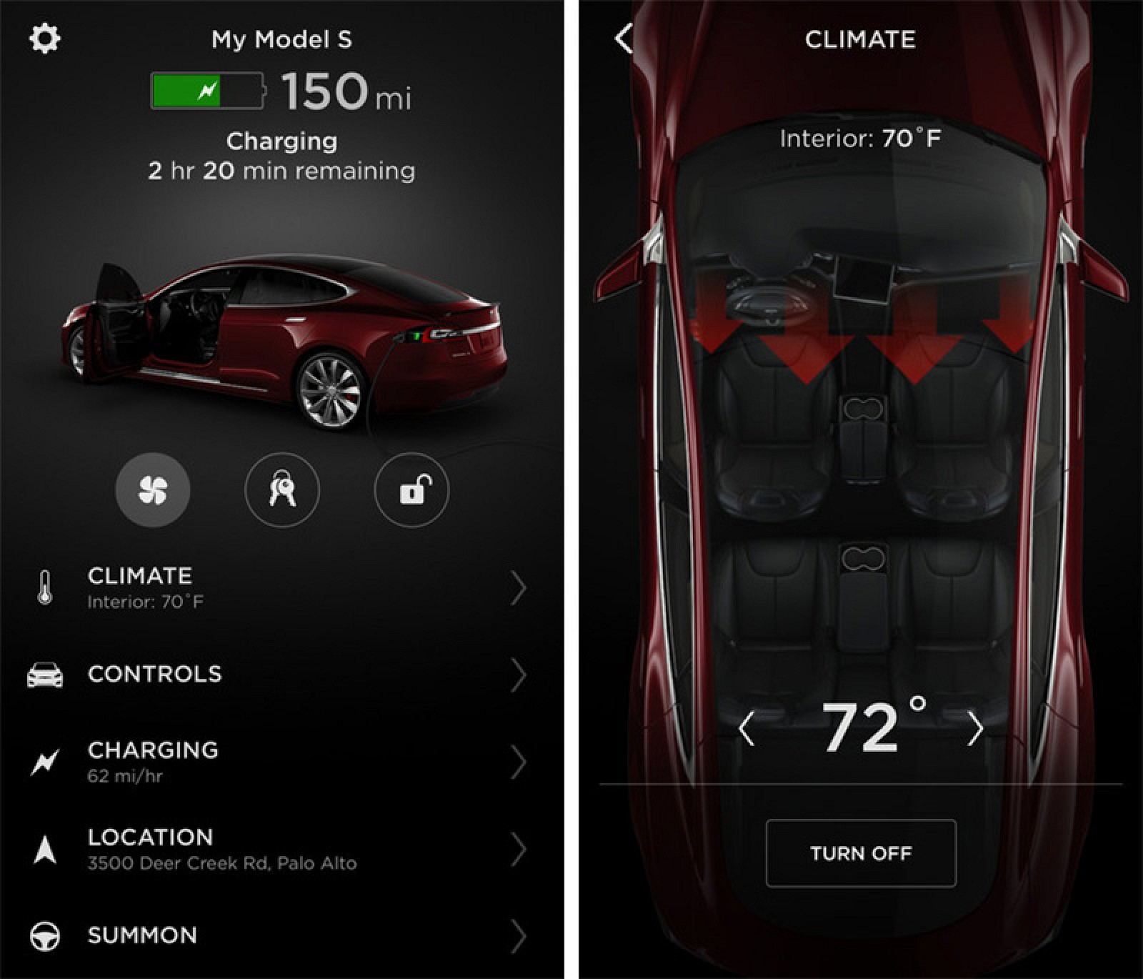 Mobile App Home Screen Redesign: Tesla Releases Completely Redesigned IPhone App With Touch