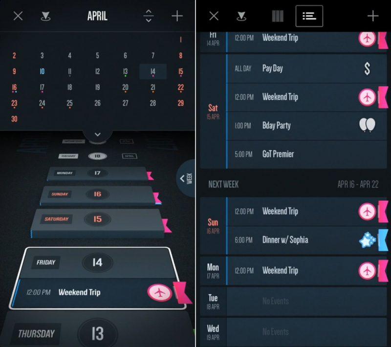 Vantage Calendar Is Apple S Free App Of The Week Macrumors