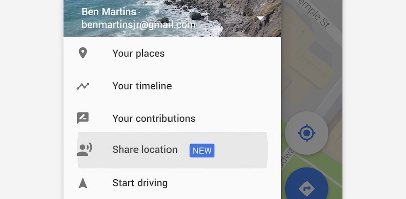 how to share google contacts