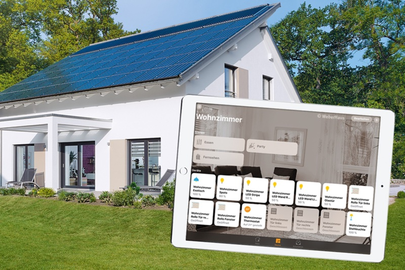 awesome first time home builder #5: WeberHaus already has experience with intelligent homes, having previously  used WeberLogic 2.0 and the MyHomeControl app from BootUp for home control,  ...