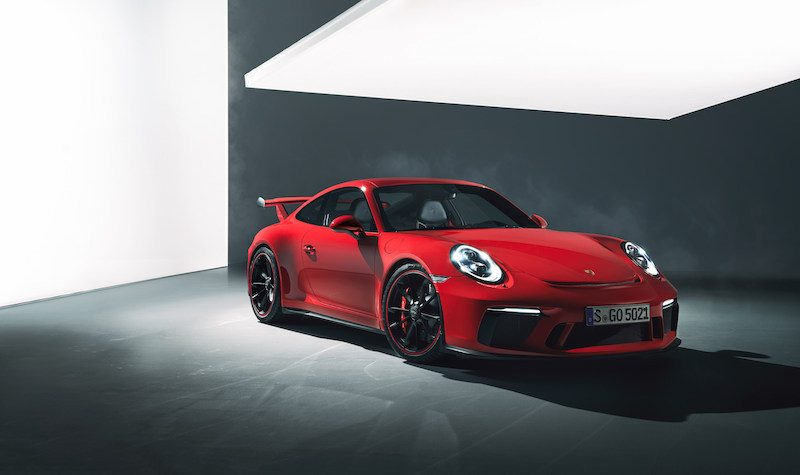 Porsche Detailed The All New 2018 911 Gt3 Street Legal Sports Car With A 4 0 Liter Flat Six Engine That Produces Up To 500 Horse An Based