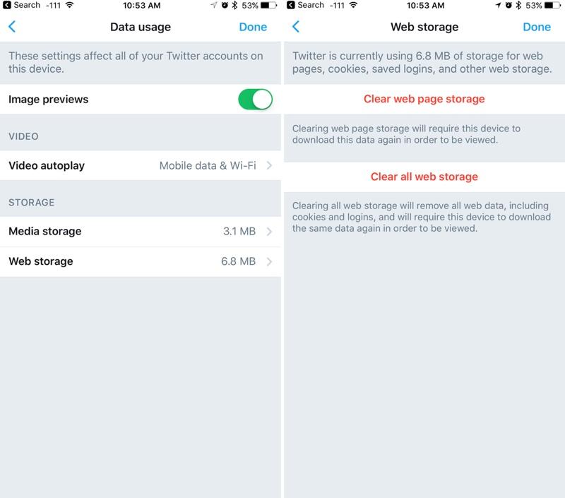 clear app cache ios