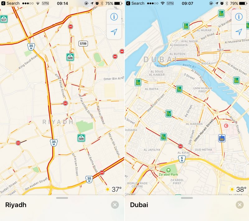 Apple Maps Gets Traffic Data for Saudi Arabia and United ... on dammam road map, eastern australia road map, syria road map, makkah road map, riyadh road map, al riyadh map, jordan country highway map, pakistan road map, gulf gcc map, sinai peninsula road map, nevis road map, montserrat road map, costa rica road map, french guiana road map, brazil road map, st barts road map, mecca road map, paraguay road map, medina road map, palau road map,