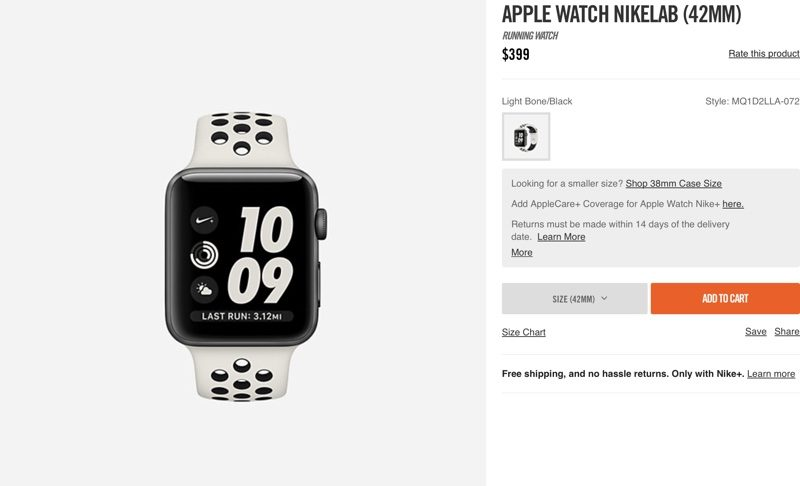 According to Nike, the Apple Watch NikeLab is limited edition and designed  to be the