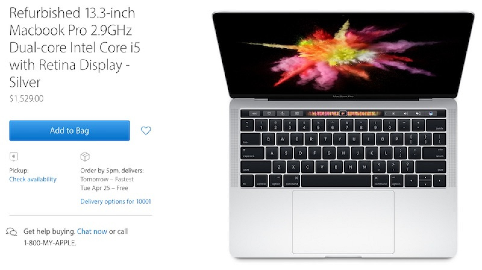 photo image Apple Now Selling Refurbished 13-Inch MacBook Pro With Touch Bar