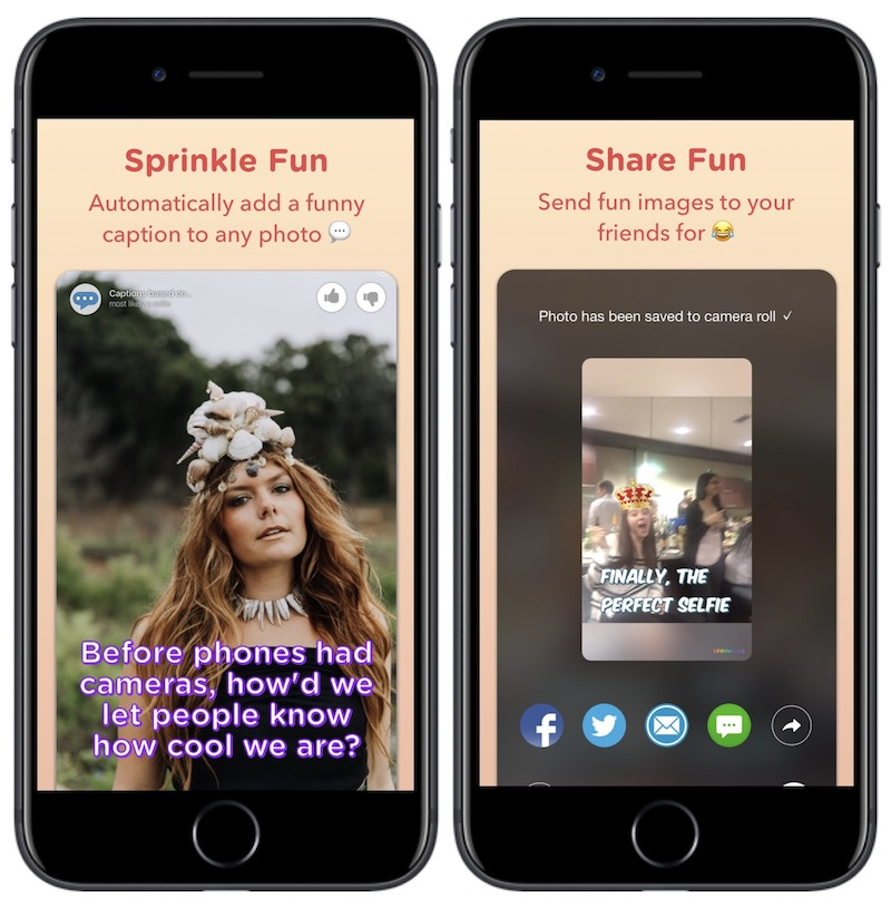 Microsoft Launches New iOS Camera App 'Sprinkles' With