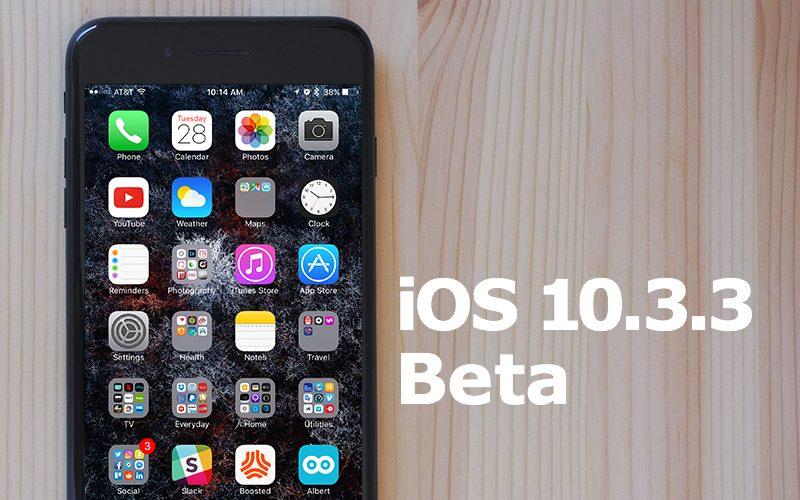 Apple vydal 4. betu iOS 10.3.3 pro vývojáře a testery mezi veřejností