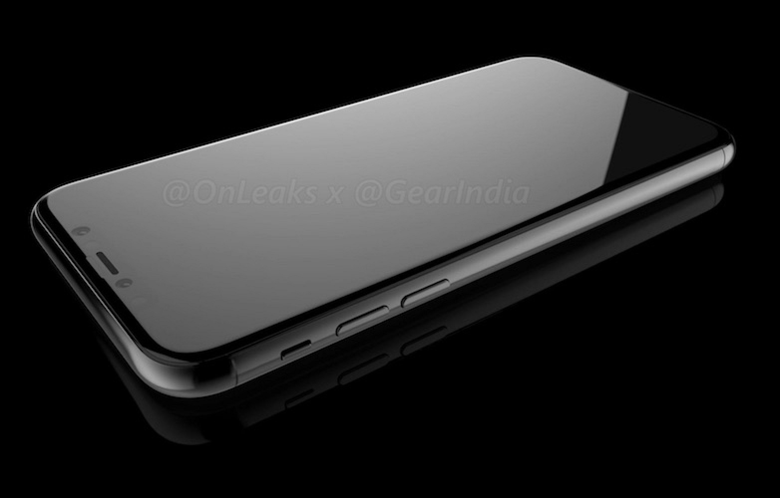 An iPhone 8 rendering based on leaked design schematics