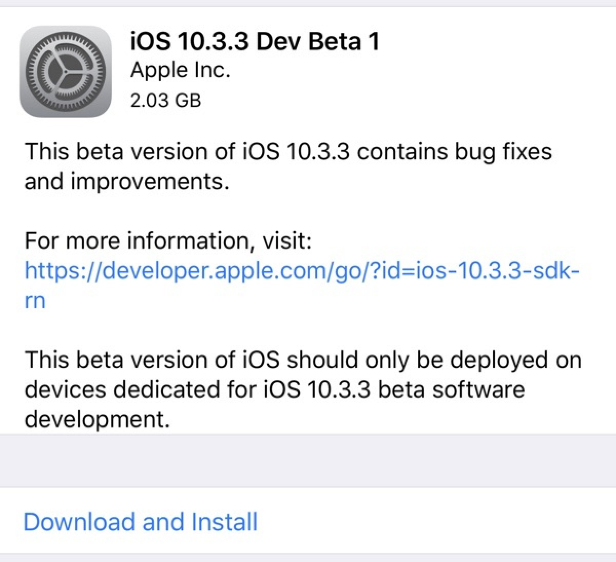 photo image Apple Seeds First Beta of iOS 10.3.3 to Developers