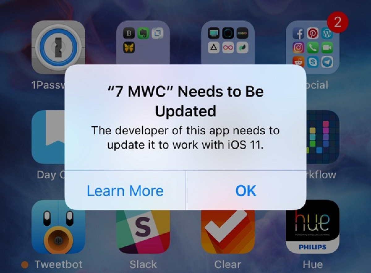32-Bit Apps no Longer Supported in iOS 11