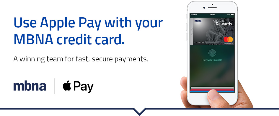 mbna canada a division of td bank group today launched apple pay support for its mastercard and visa credit cards - Visa Credit Card App