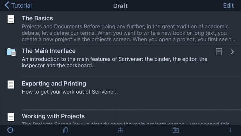 Writing App Scrivener Gains New 'Dark Mode' on iOS - MacRumors