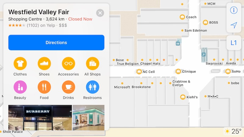 Apple s Indoor Maps for Airports and Shopping Malls in iOS 11 Slowly ... a351b348bfd81