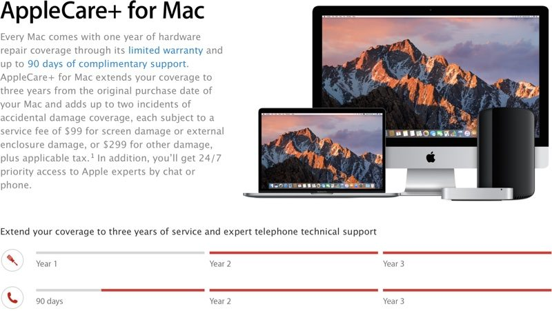 PSA: AppleCare+ for Mac and iPhone Must Be Bought Within 60