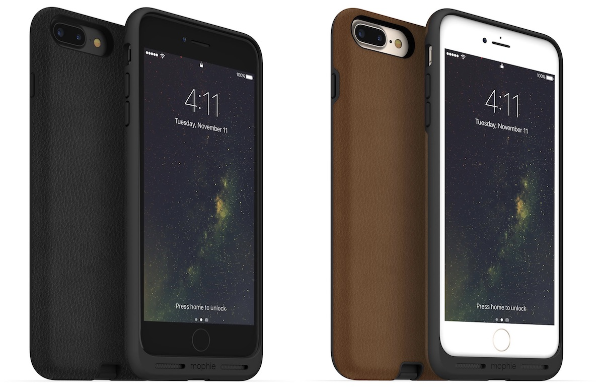 mophie launches charge force cases for iphone 7 7 plus along with attachable powerstation mini. Black Bedroom Furniture Sets. Home Design Ideas