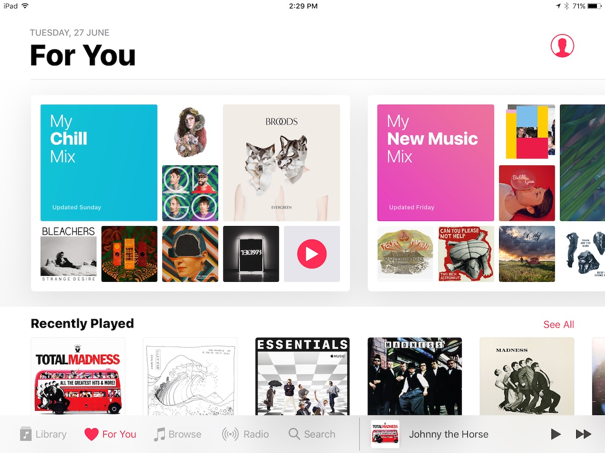 Apple Music's New Curated Playlist 'My Chill Mix' Begins