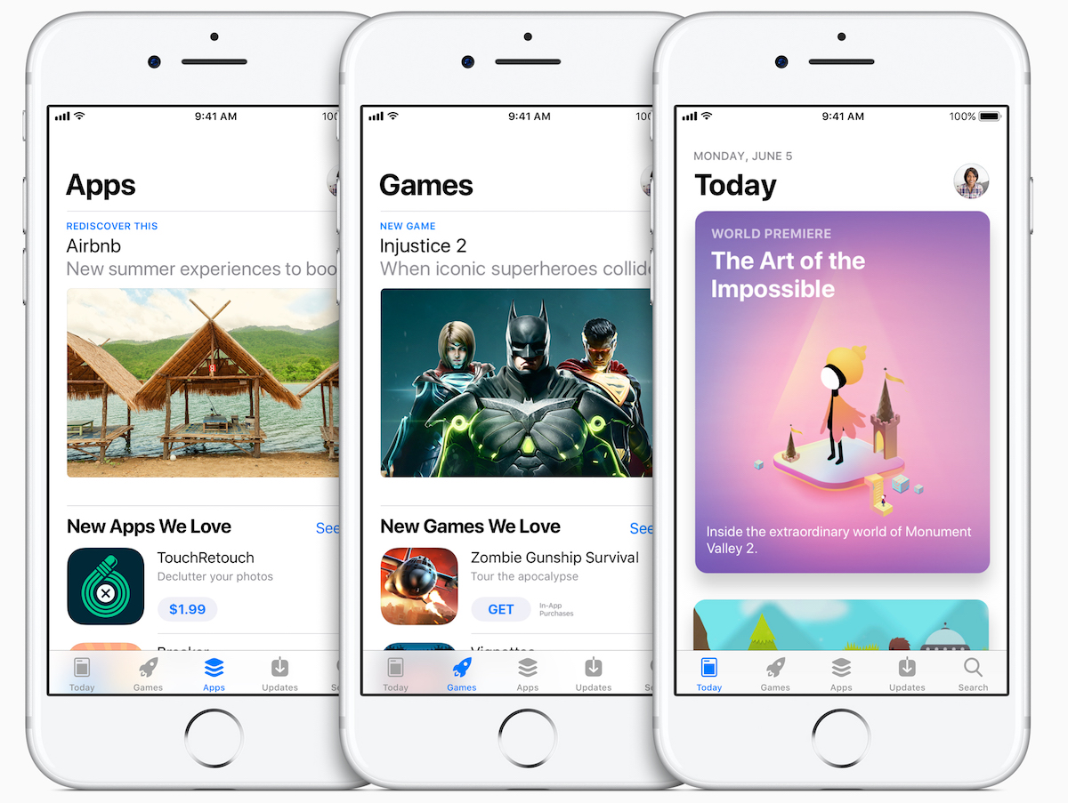 Apple Reveals Redesigned App Store for iOS 11 With Design