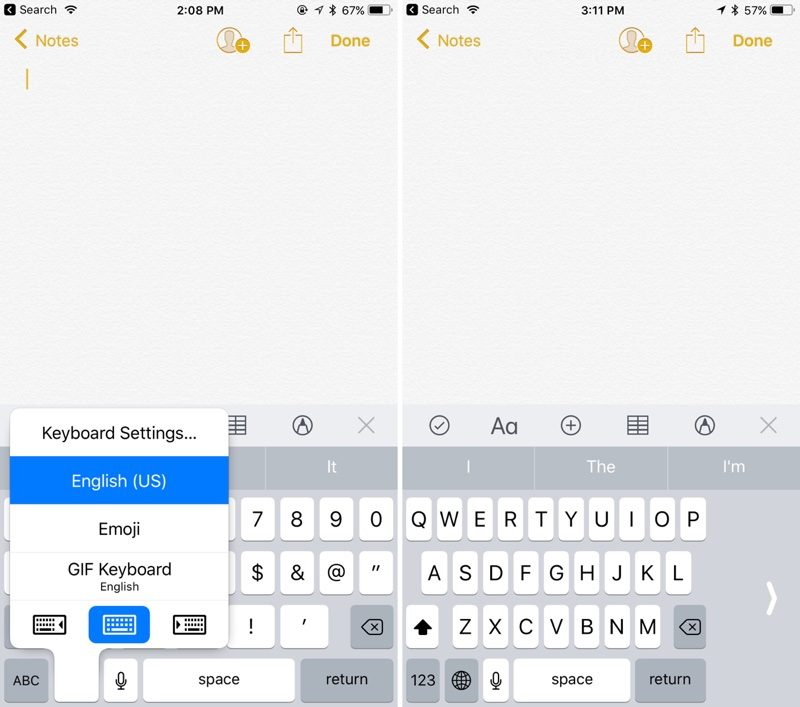 Ios 11 Tidbits Customizable Control Center One Handed Keyboard