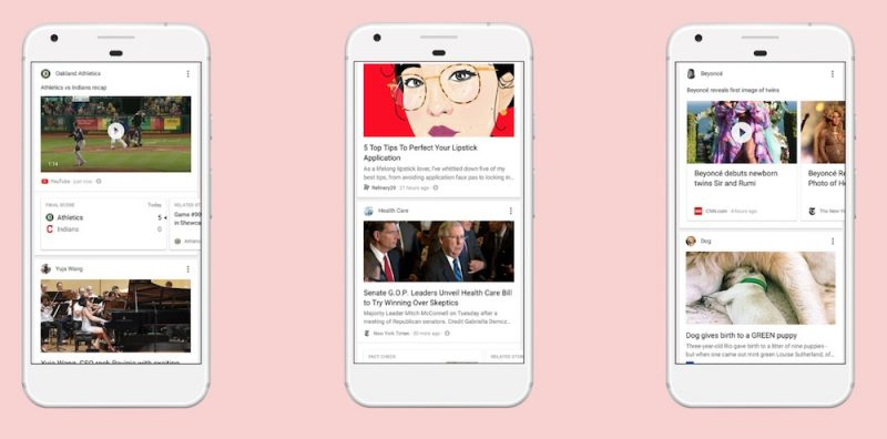 Google Search App Gains Personalized News Feed Section