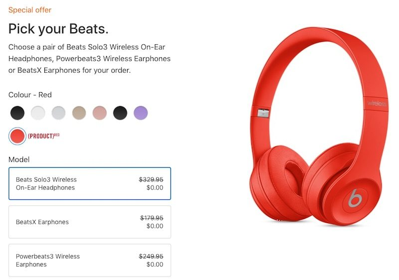 19a926a09d2 The promotion also offers free BeatsX wireless headphones with the purchase  of any 10.5-inch or 12.9-inch iPad Pro, or students can pay $50 extra for  Beats ...