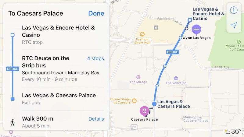 Apple Maps Transit Directions Now Available In Las Vegas And - Nevada map with cities