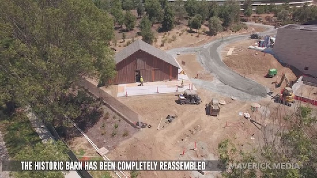 photo image Apple Has Finished Moving and Precisely Reassembling a Historic Barn At Its New Headquarters