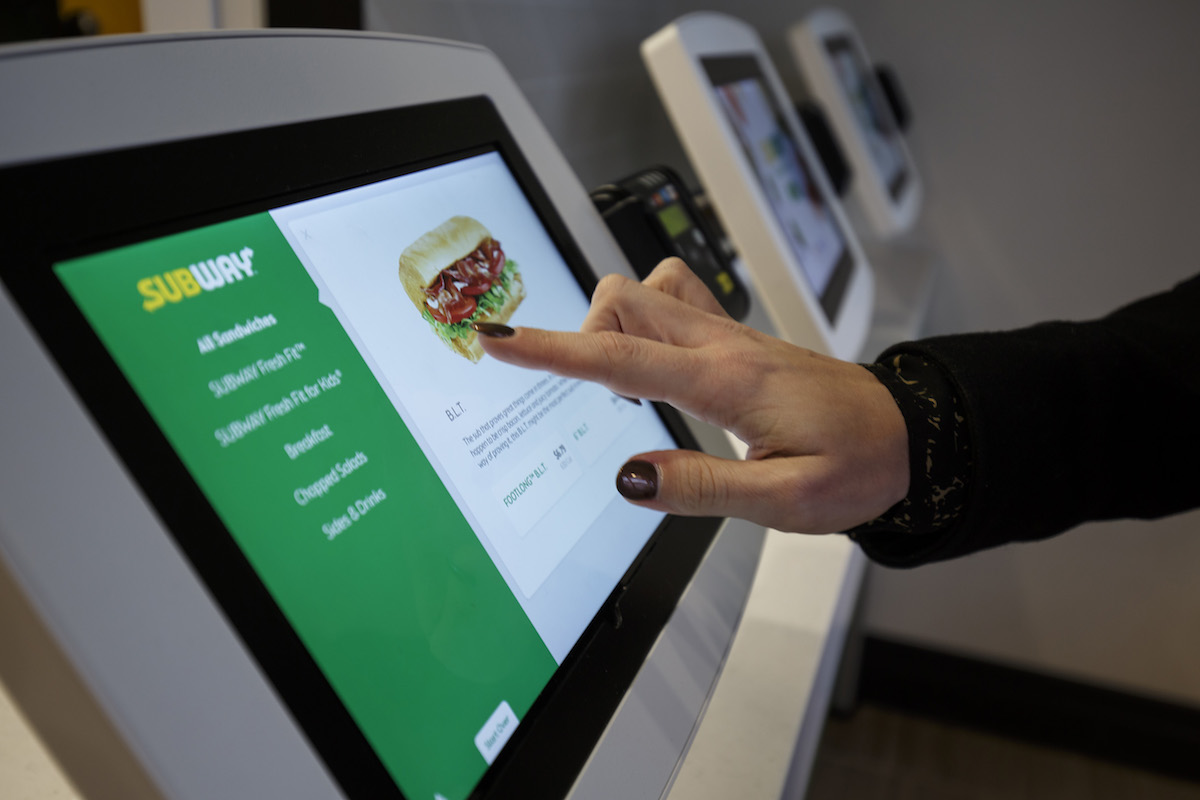 Subway Refreshing Store Designs With Self Order Kiosks