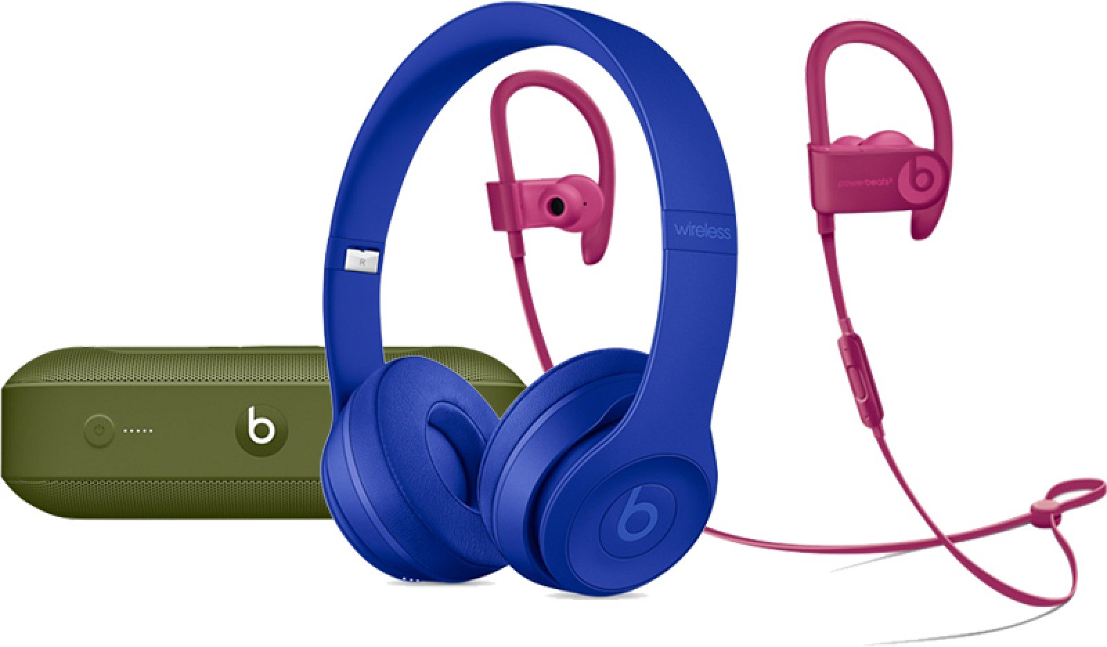 cc3b678b1b0 Apple Now Selling Beats Solo3, Powerbeats3, and Pill+ Speaker in New 'Neighborhood  Collection' Colors - MacRumors