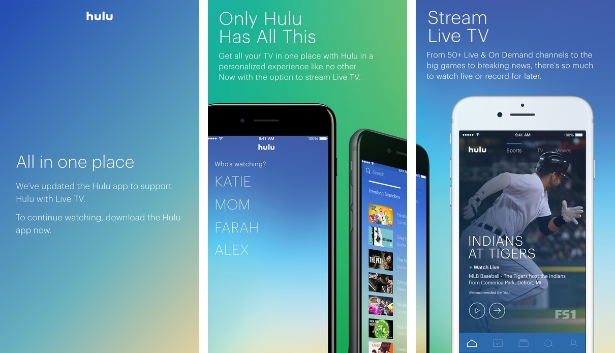 Hulu Merges Live TV App Features into its Core iOS App ...