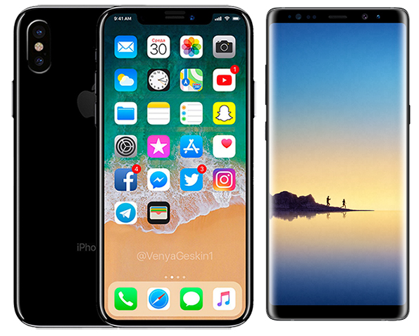 new concept ed20e 736f9 Apple May Launch Galaxy Note 8-Sized iPhone With 6.4-Inch OLED ...