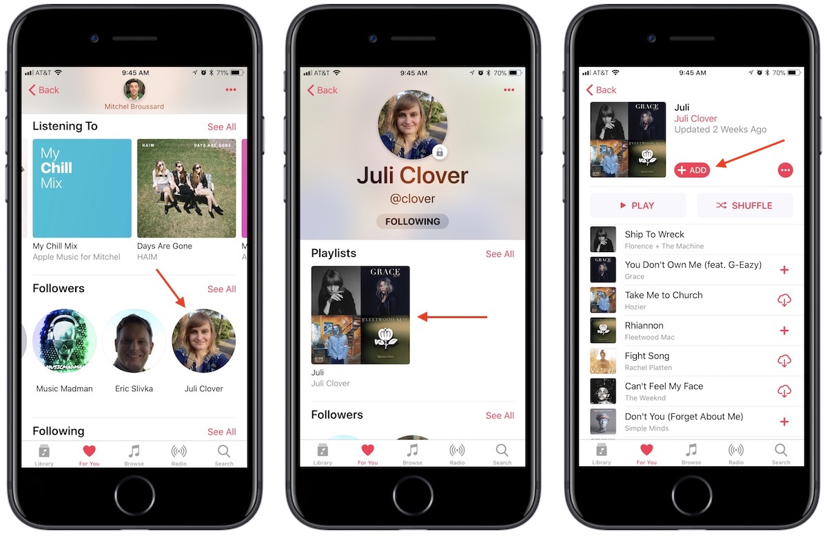 How to make apple music account public