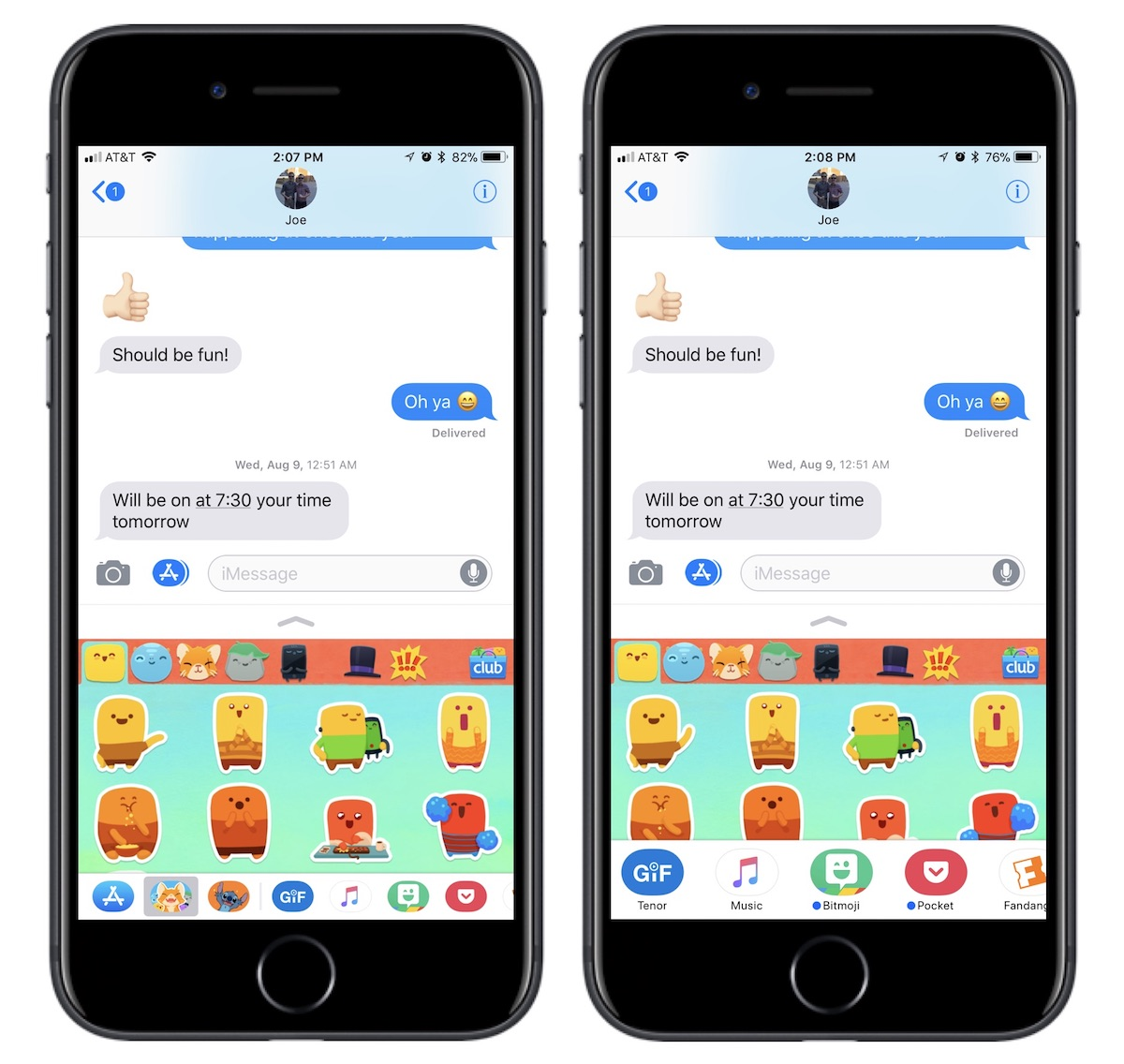 How To Use The Redesigned Messages App Drawer In Ios 11 Mac Rumors