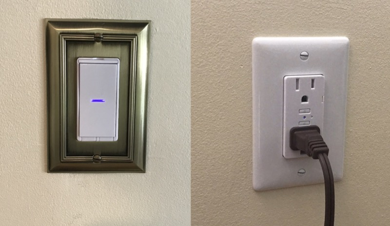 Review idevices switches and outlets bring homekit to your once the wall switch and wall outlet are wired up and screwed back in faceplates not included installed and the circuit breaker turned back on aloadofball Choice Image