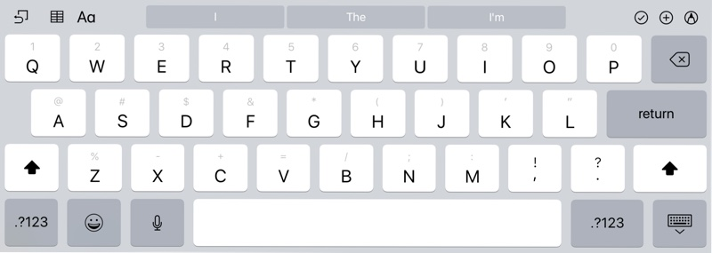 Bring Up The IPads Keyboard Either In An App Or Using Search Feature