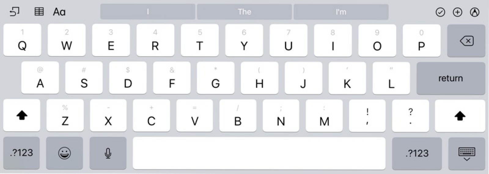 How to use the ipads new flick keyboard in ios 11 mac rumors buycottarizona Image collections