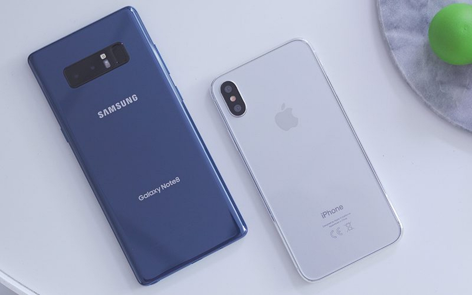 Samsung S Galaxy Note 8 Compared To Iphone 8 Dummy Mac