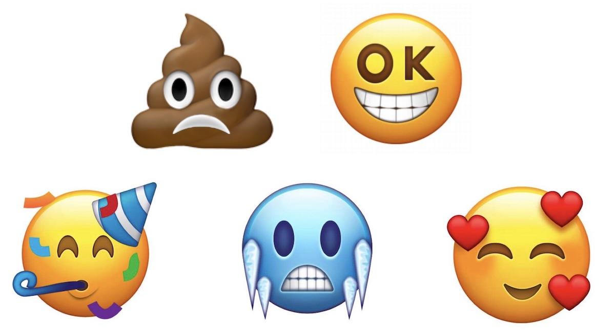 V roce 2018 přivítáme 67 nových emotikon