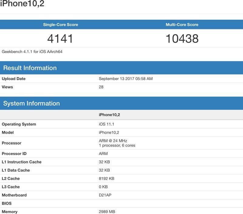 První benchmarky iPhone X, 8 a 8 Plus. Výkon Apple A11 Bionic je impozantní