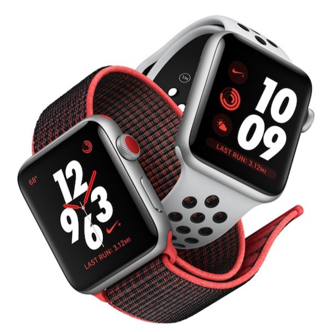 apple watch series 3 39 s nike models have slightly later. Black Bedroom Furniture Sets. Home Design Ideas