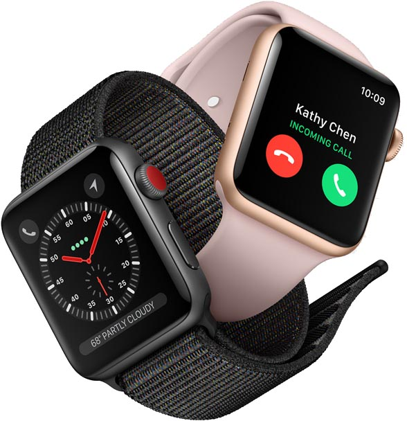 Apple Watch Series 3 Models Feature Smaller 38 And 42mm Bodies With Less Display Area A Dual Core S3 Processor An Optical Heart Rate Sensor