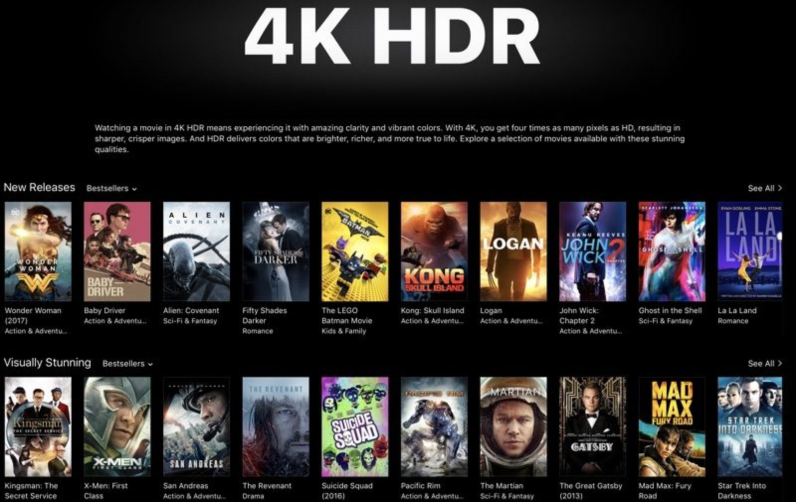 Apple Highlighting 4K HDR Movies in iTunes Ahead of Apple TV 4K Launch – TechRistic.com