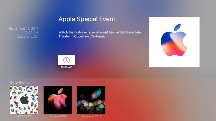 apple updates apple tv events app ahead of next week 39 s. Black Bedroom Furniture Sets. Home Design Ideas