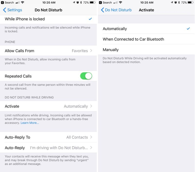 How to Use Do Not Disturb While Driving - MacRumors