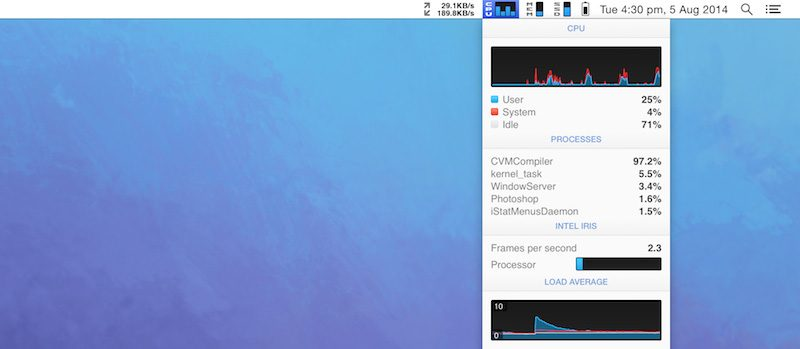 Menu Bar Tools Bartender 3 and iStat Menus 5 Now Support