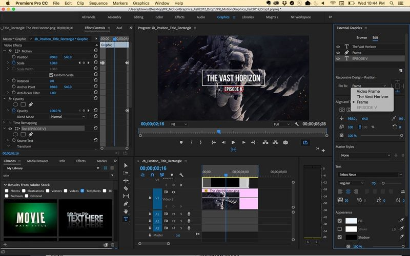 Adobe Announces Updates For Premiere Pro After Effects Character - Premiere pro motion graphics templates