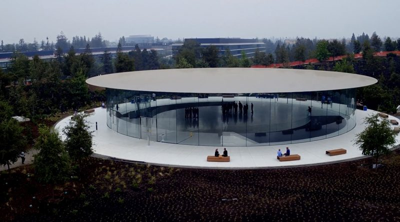 New Apple Park Drone Video Shows Off Steve Jobs Theater Ahead of Next Week's Event