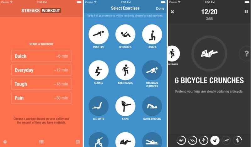 Fitness App 'Streaks Workout' Available for Free as Apple's