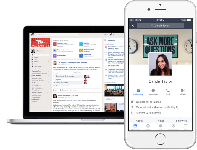 Facebook Officially Launches 'Workplace Chat' Mobile and